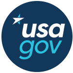 Logo for usa.gov. Image is linked