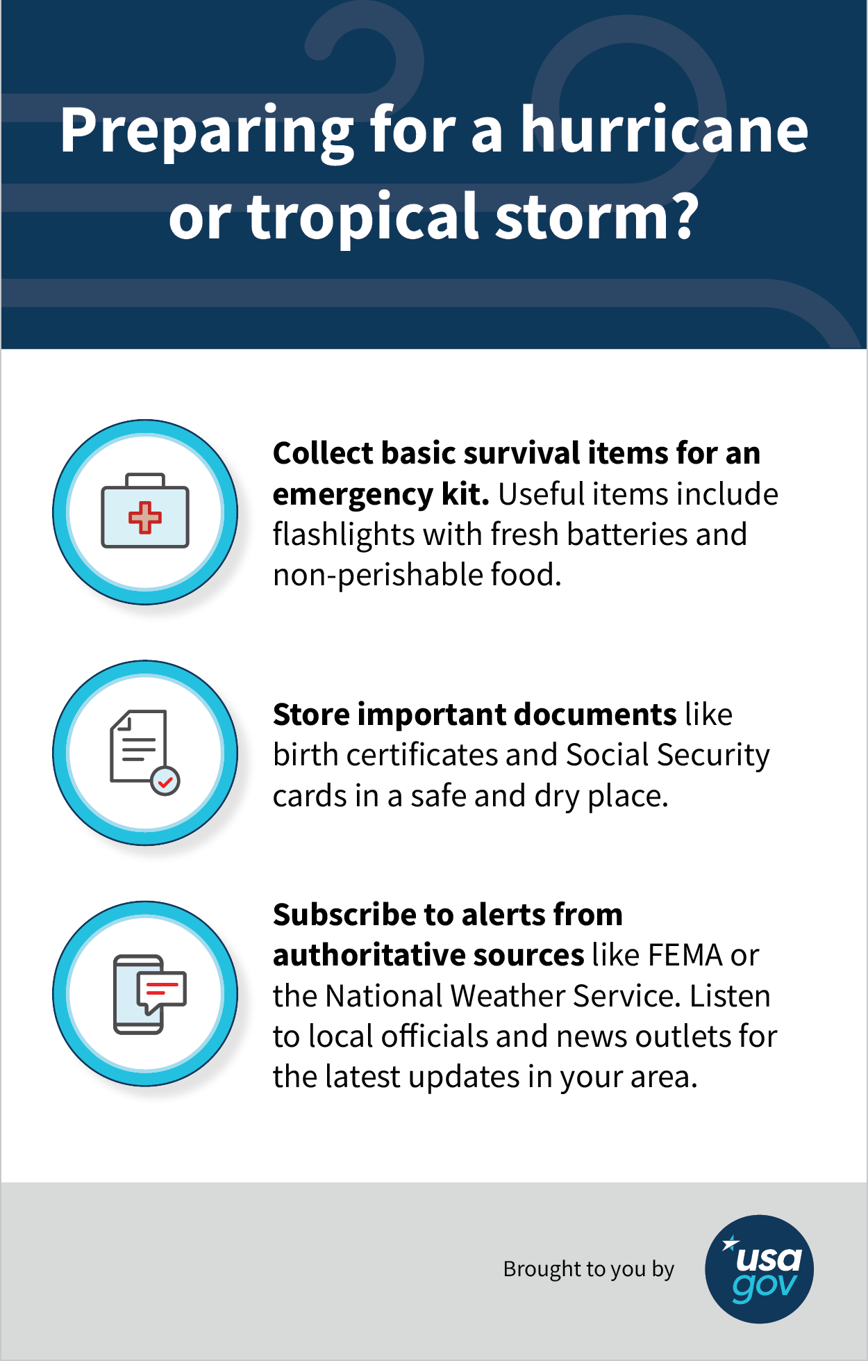 Tips on how to prepare for a hurricane or tropical storm