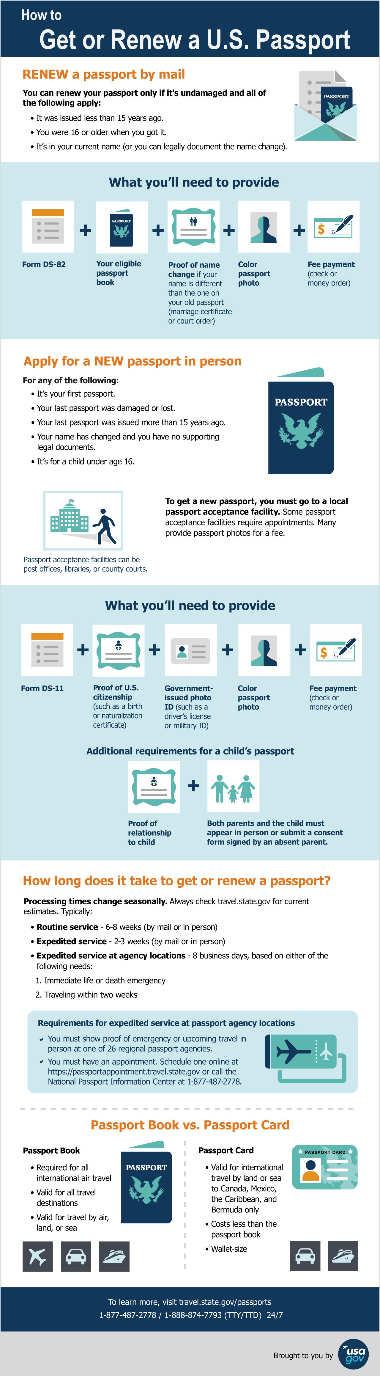 Getting or Renewing a U.S. Passport | USAGov